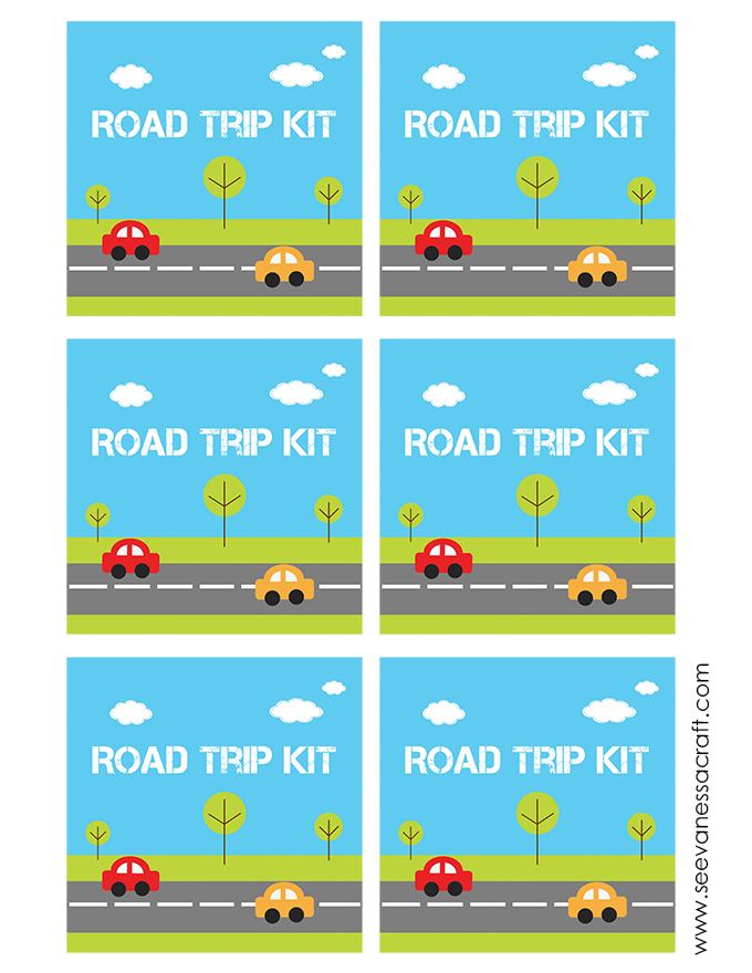 Road Trip Kit Printable