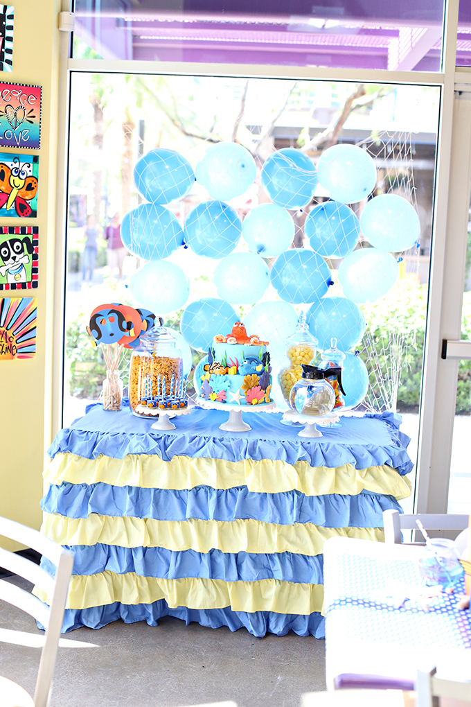 Finding Dory Birthday Party Dessert Table
