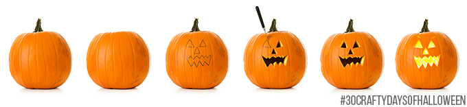 Pumpkin: Stages of Halloween Pumpkin Being Carved
