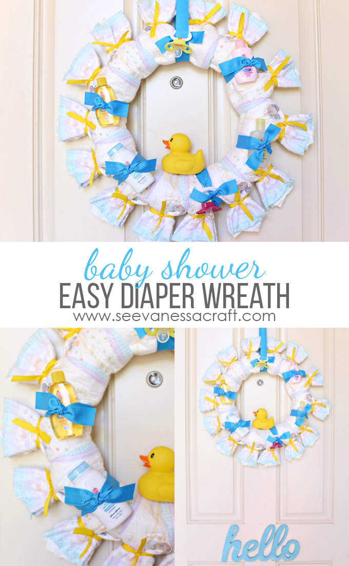 craft baby shower diaper wreath see vanessa craft