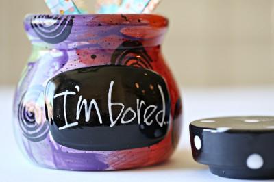 I'm Bored Jar - Kid Craft Idea