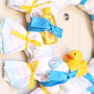 Baby Shower Diaper Wreath Tutorial