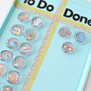 Magnetic Chore Chart Tutorial for Kids and Back to School
