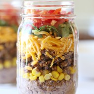 Mexican Food Taco Mason Jar Recipe