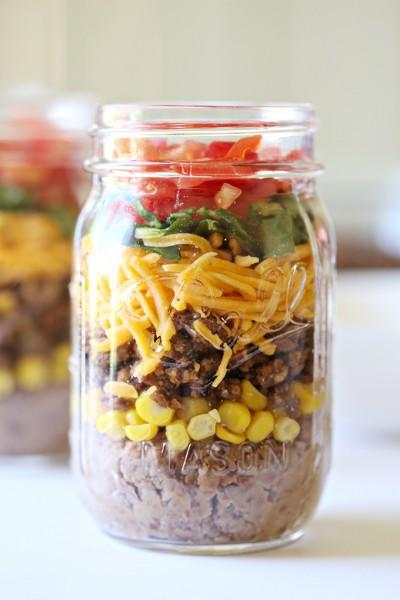 Mexican Food Taco Mason Jar Recipe