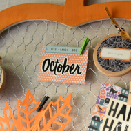 Halloween Chicken Wire Pumpkin Decor
