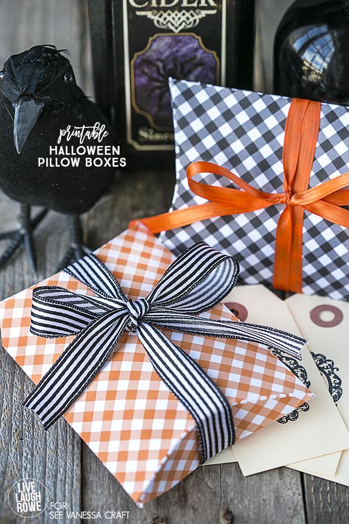 Printable Halloween Pillow Boxes