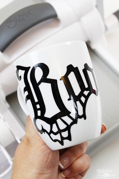 Halloween Boo Mug with Sizzix Big Shot and Vinyl