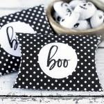 Halloween: Polka Dot Pillow Box Printable