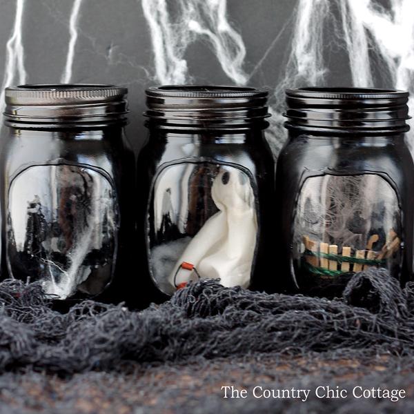 haunted house mason jars-008