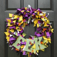 Halloween: DIY Ribbon Wreath