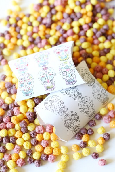 Day of the Dead Printable Pillow Boxes