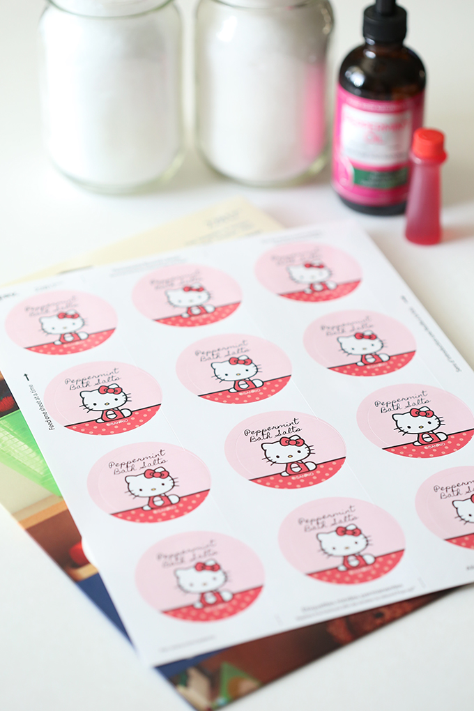 Hello Kitty Peppermint Pink Bath Salts Recipe