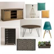 DIY: Rustic Living Room Makeover Mood Board