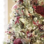 Red and Black Buffalo Check Christmas Tree