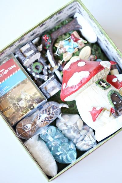 Winter Christmas Fairy Garden Kit Gift Idea