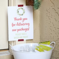 Christmas: Thank You Idea for Package Delivery