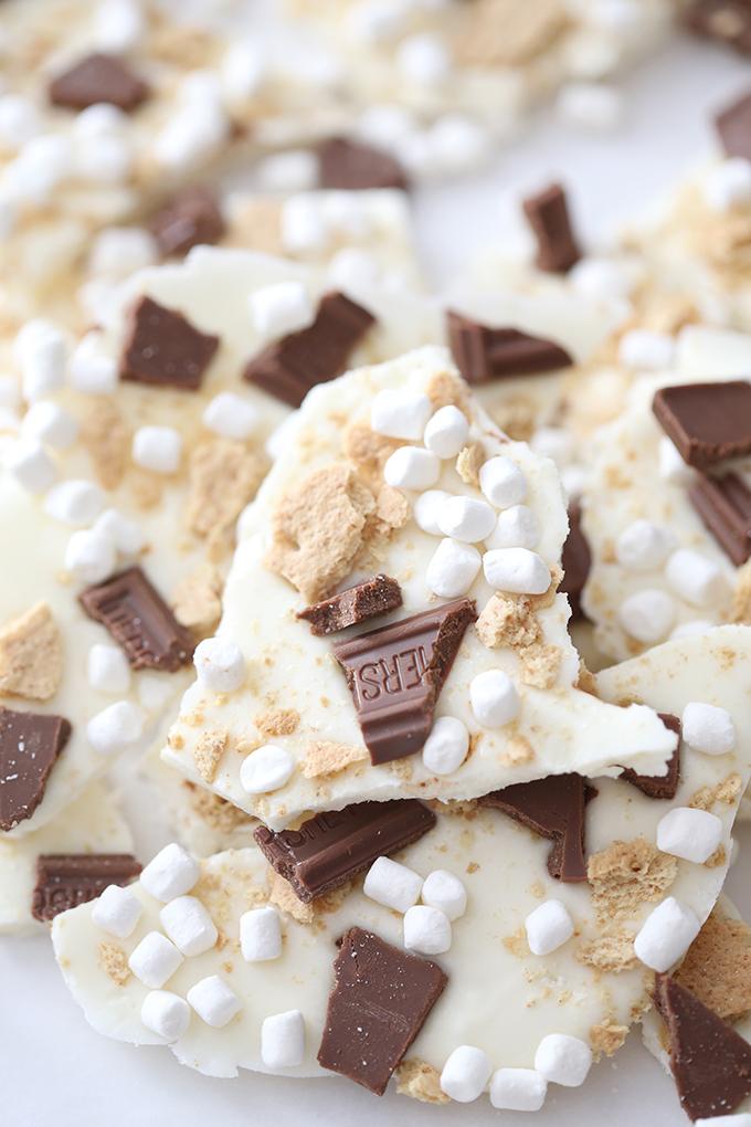 Chocolate S'mores Bark Recipe