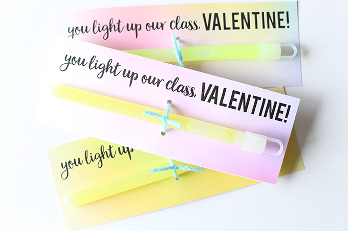 Glow Stick Valentine Printable 4 copy