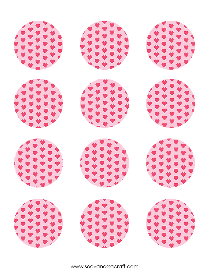 Valentines Day Cupcake Toppers Printable