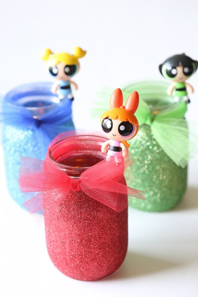 Power Puff Glitter Night Lights Tutorial