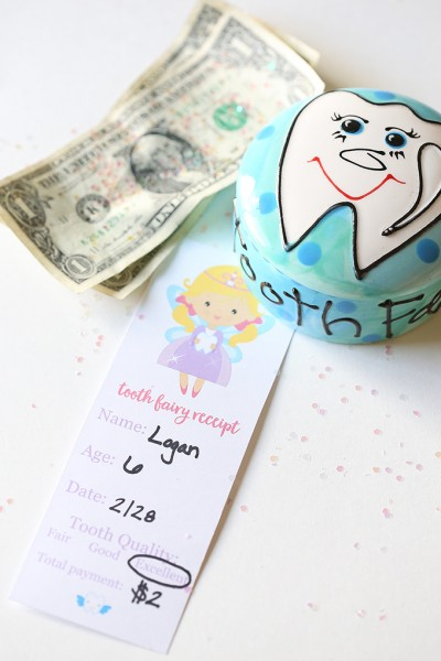 Tooth Fairy Receipt Printable and Tooth Box