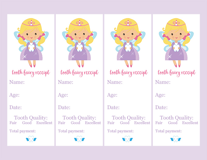graphic relating to Free Printable Tooth Fairy Receipt titled Craft: Teeth Fairy Receipt and Box - Watch Vanessa Craft