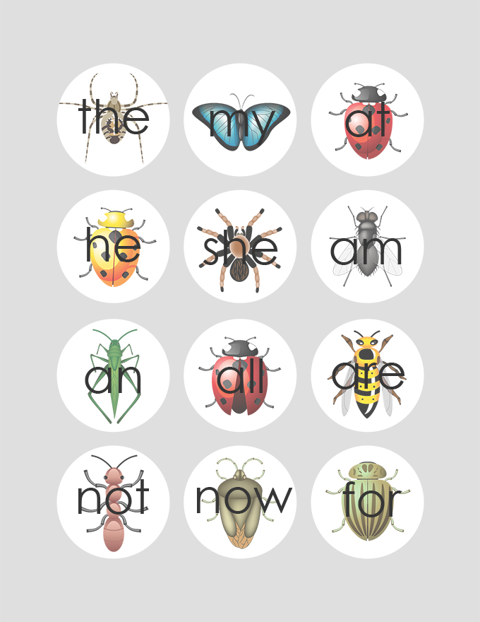 Bug Sight Words 2