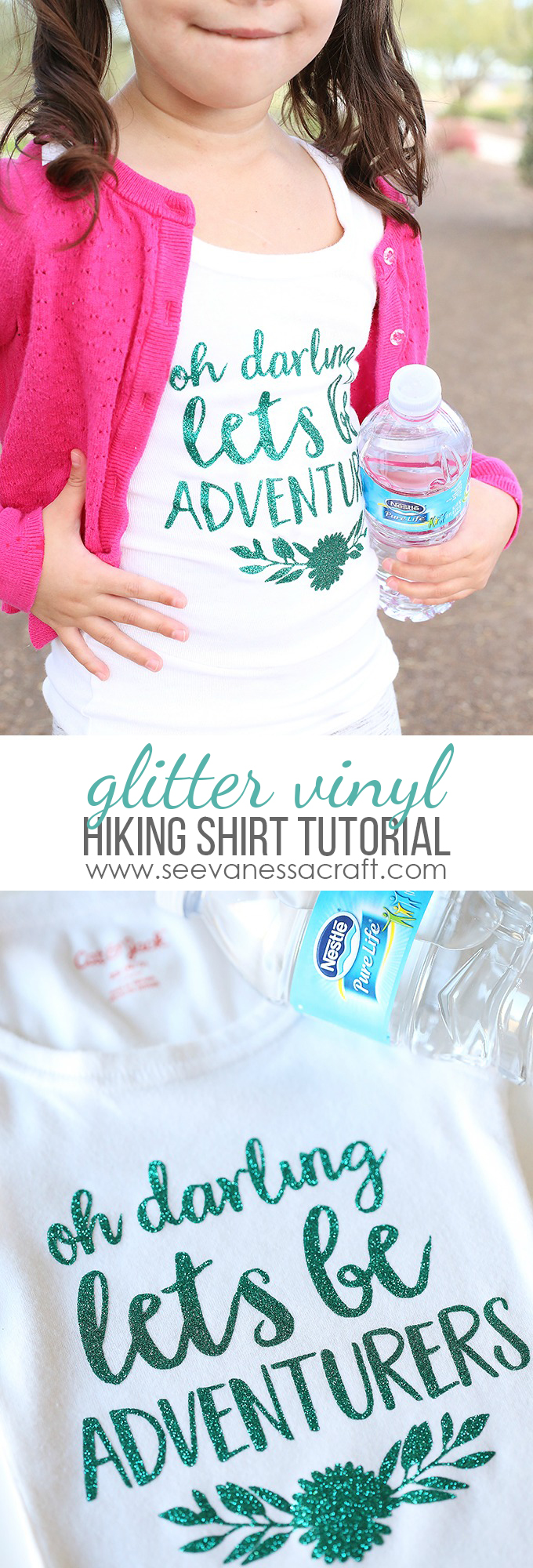 Glitter Vinyl Hiking Adventure Shirt Tutorial