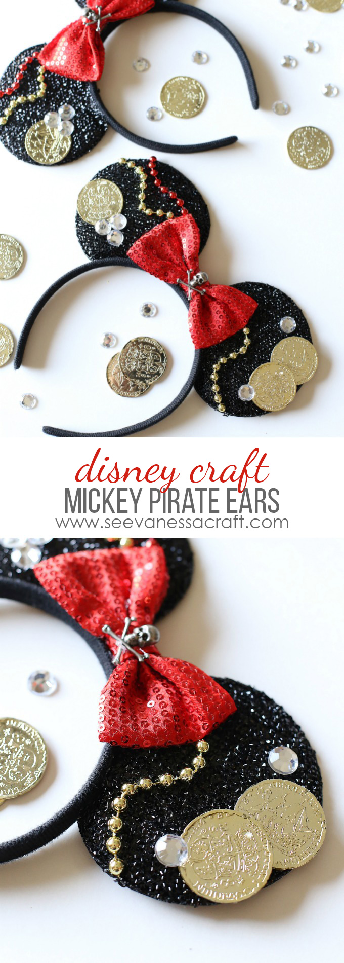 Pirate Mickey Mouse Ears Tutorial copy