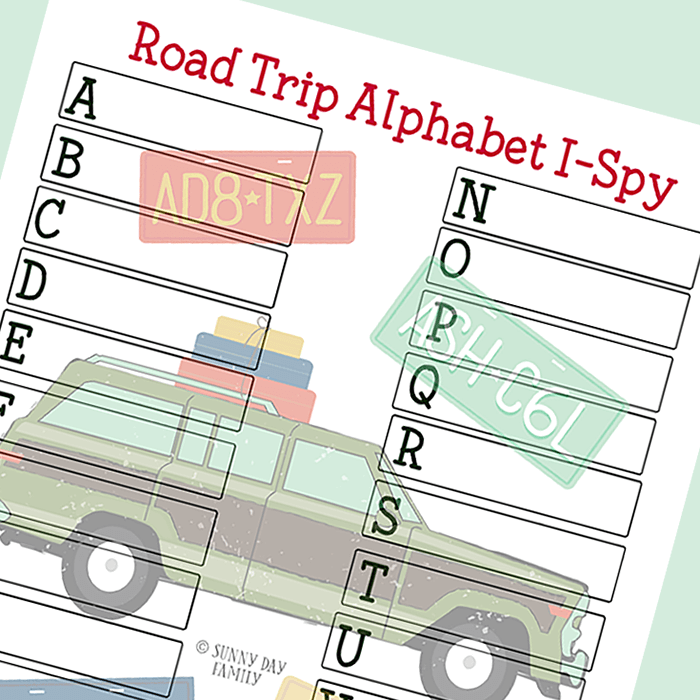 Road Trip I Spy Printable