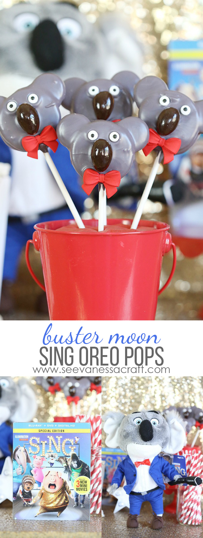 Sing Buster Koala Oreo Pops Party Favor copy