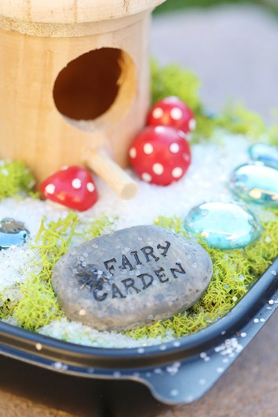 Upcycled Fairy Garden for Kids #chickfilamomsDIY