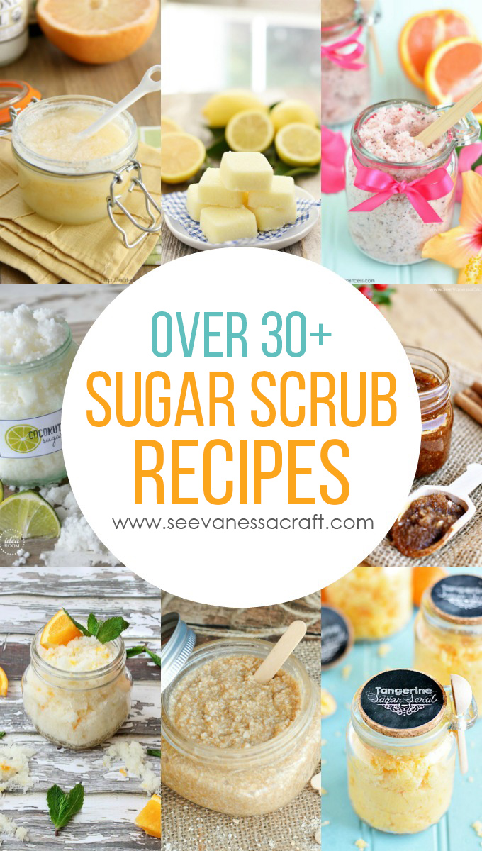 Over 30+ Sugar Scrub Recipes and Tutorial for Mother's Day