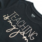 Craft: Cricut Adhesive Foil Teaching Is My Jam Shirt & Tumbler