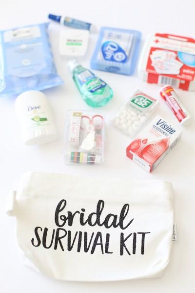 Craft: Wedding Day Bridal Survival Kit with Cricut Glitter Vinyl