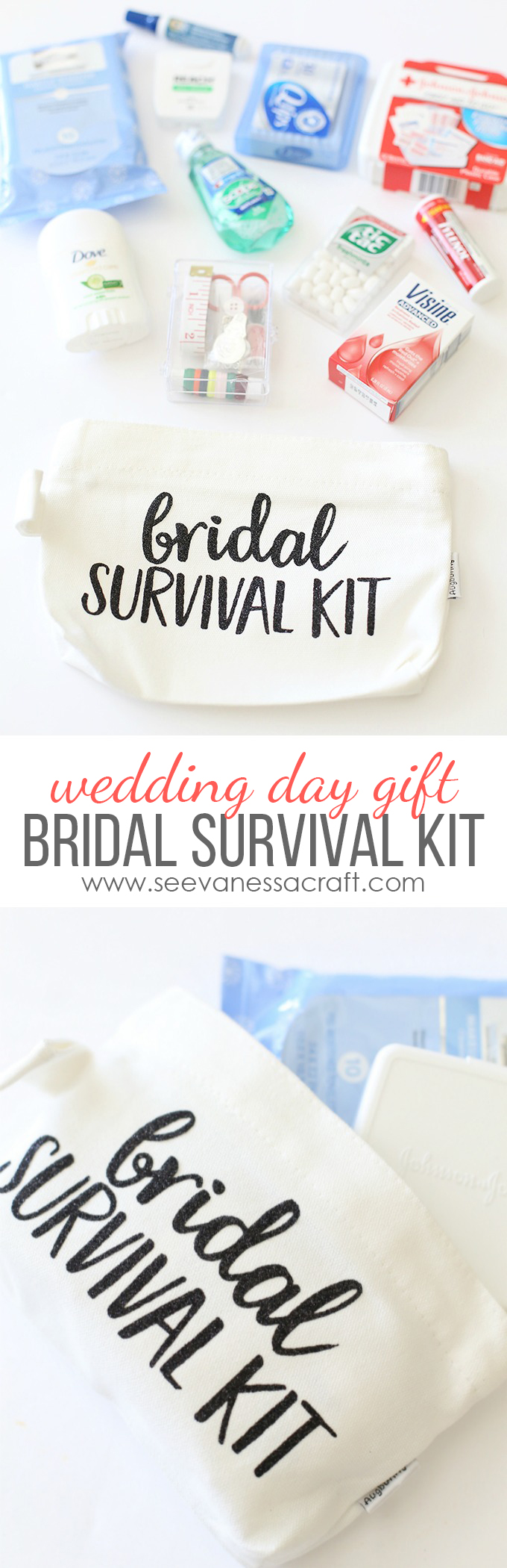 Bridal Survival Kit with Cricut Glitter Vinyl copy
