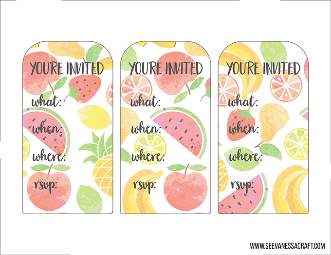 Printable Popsicle Invitations