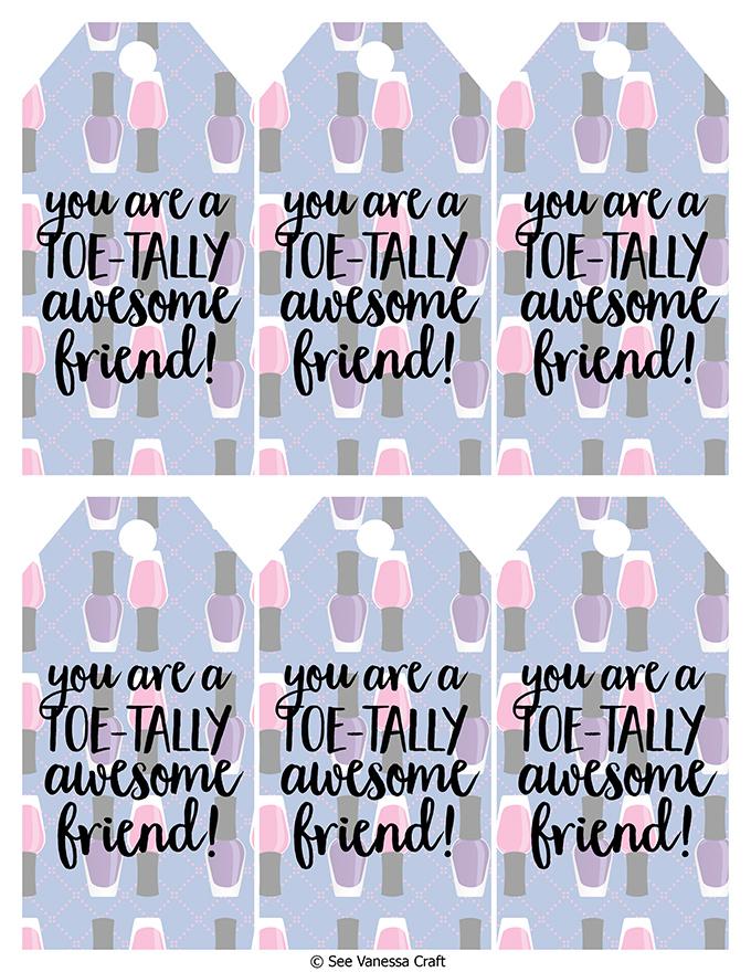 Toetally Awesome Friend Tags