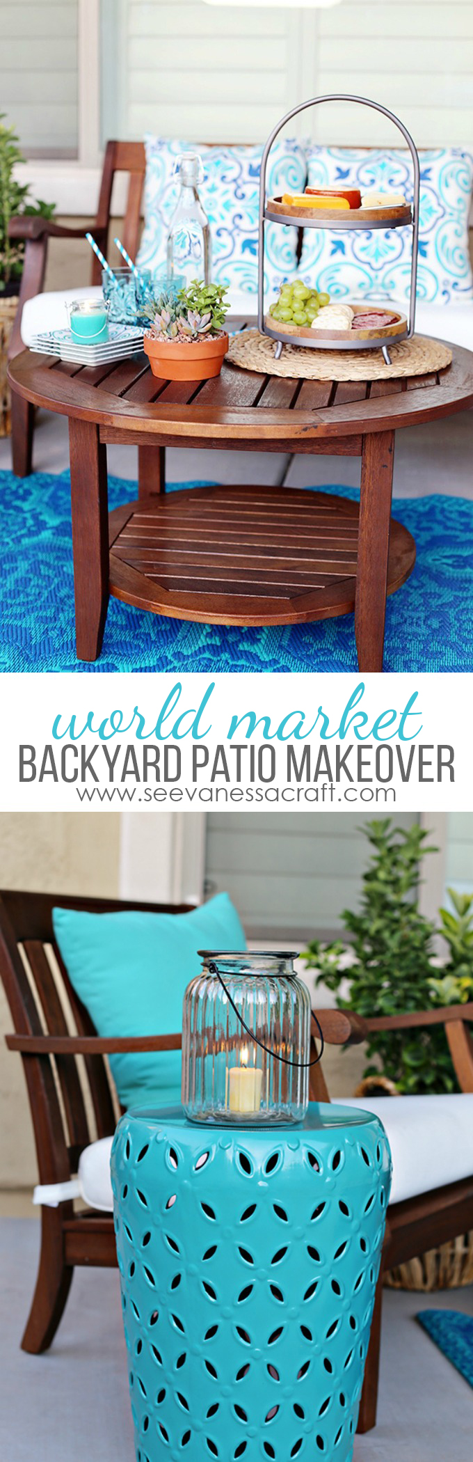 World Market Aqua Backyard Patio Makeover Ideas on Outdoor Patio Makeover id=64810