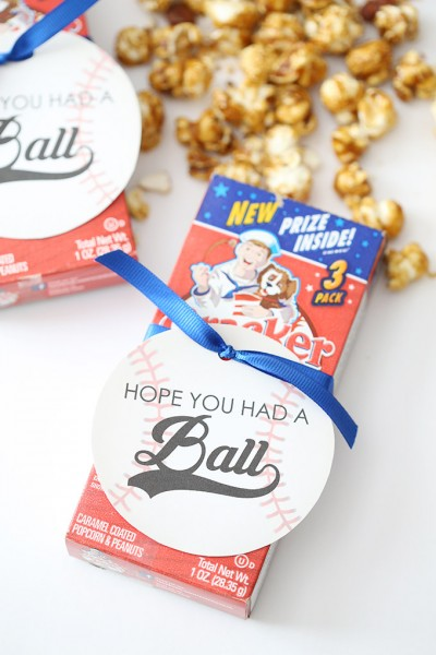 Baseball Birthday Party Favor Tags