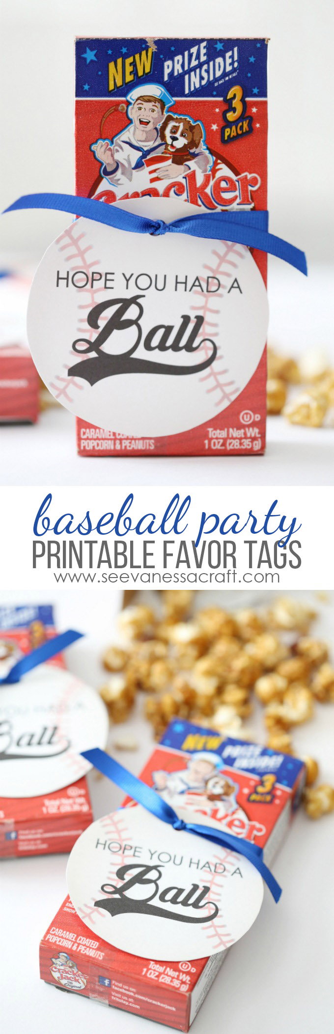 Baseball Party Favor Tags
