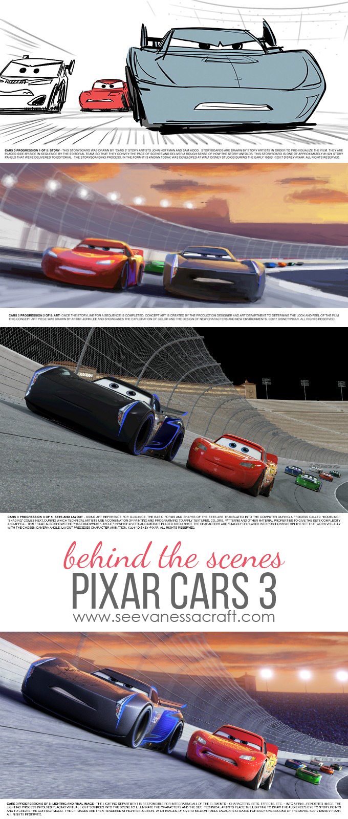 Behind the Animation Scenes of Pixar Cars 3