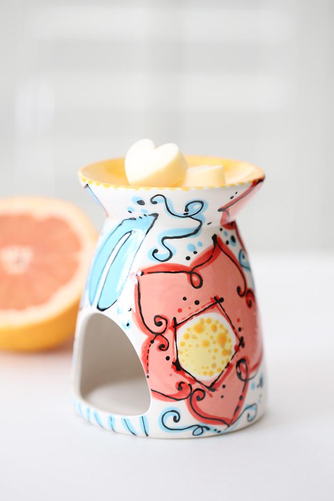 Grapefruit Wax Candle Tart 7 copy