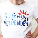 Craft: Easy Iron On 4th of July Shirt with Cricut