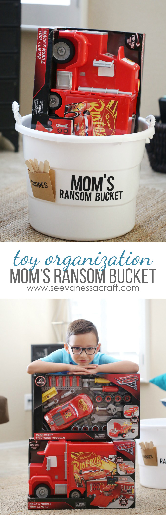 Moms Ransom Toy Bucket Tutorial