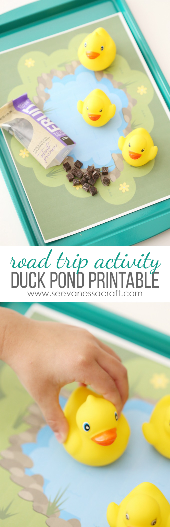 Duck Pond Printable and Road Trip Car Tray