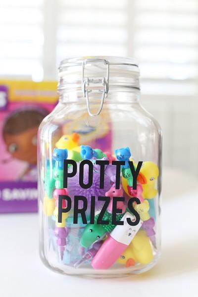 Potty Prizes Jar for Easy Potty Training
