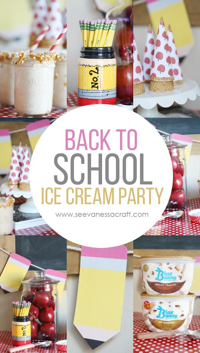 Back to School Ice Cream Party