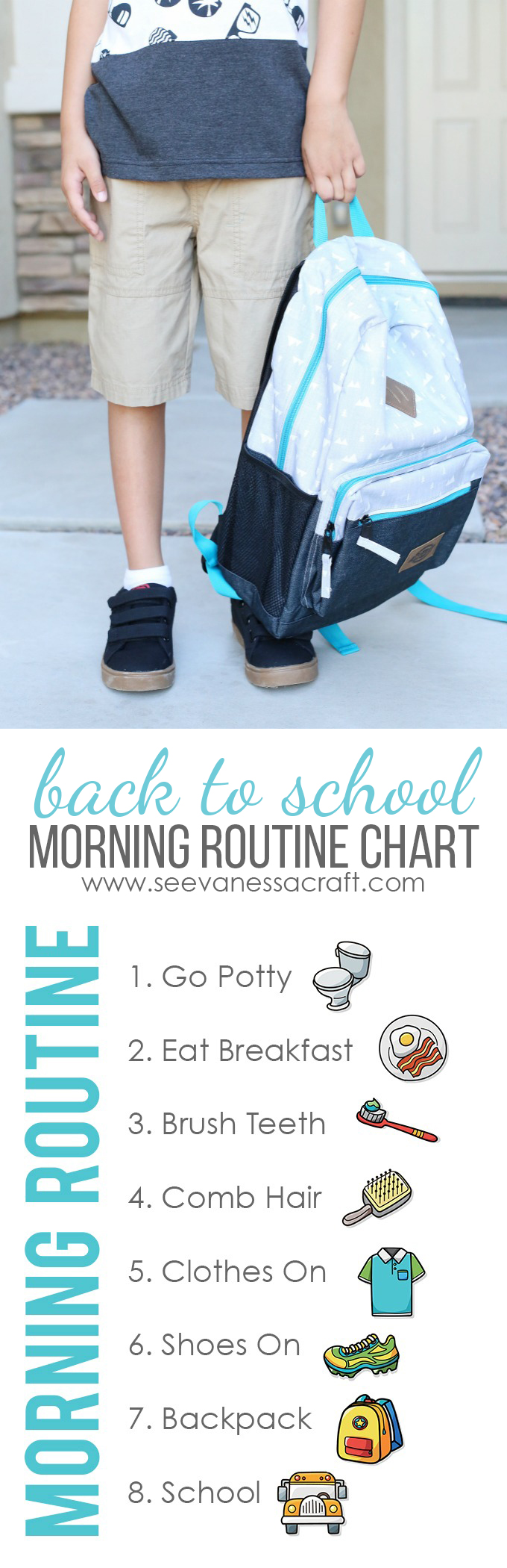Back to School Morning Chore Chart Printable